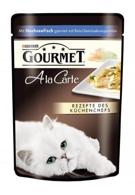 Gourmet A la Carte mit Hochseefisch an Reis Gemüsekomposition Portionsbeutel 24 x 85 g