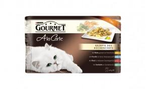 Gourmet A la Carte mit Rind, Huhn, Forelle, Seelachs 4er-Multipack Portionsbeutel 48 x 85 g