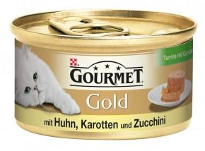 Gourmet Gold Terrine mit Huhn, Karotten und Zucchini Dose 24 x 85 g