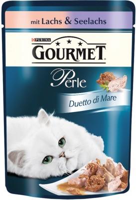 Gourmet Perle Duetto di Mare mit Lachs & Seelachs Portionsbeutel 24 x 85 g