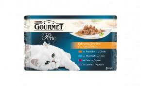 Gourmet Perle Erlesene Streifen mit Truthahn, Thunfisch, Ente und Lamm 4-er Multipack Portionsbeutel 48 x 85 g
