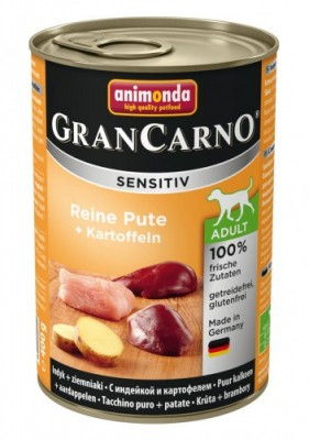 Animonda Dog Gran Carno Sensitiv Adult Reine Pute plus Kartoffeln 400 g