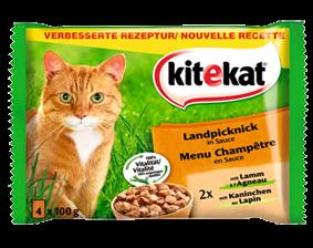 Kitekat Landpicknick in Sauce 4er Multipack 52 x 100 g