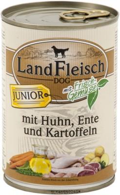 LandFleisch Junior mit Huhn, Ente und Kartoffeln 400 g