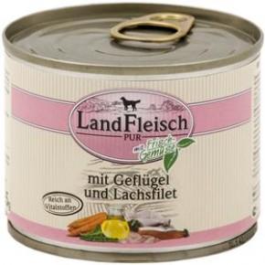 LandFleisch Pur mit Geflügel und Lachsfilet 195 g