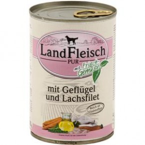 LandFleisch Pur mit Geflügel und Lachsfilet 400 g
