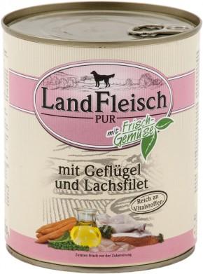 LandFleisch Pur mit Geflügel und Lachsfilet 6 x 800 g