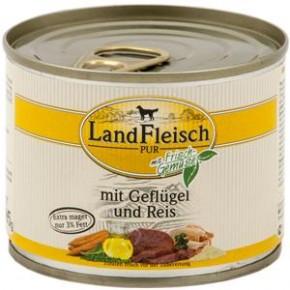 LandFleisch Pur mit Geflügel und Reis 195 g