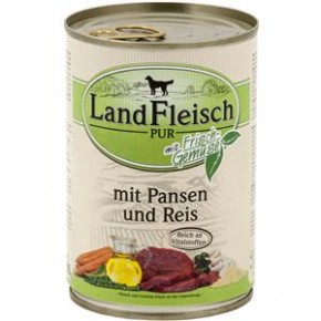 LandFleisch Pur mit Pansen und Reis 400 g