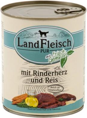 LandFleisch Pur mit Rinderherz und Reis 800 g