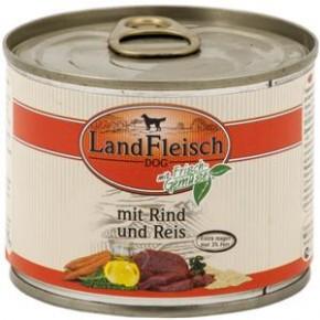 LandFleisch Pur mit Rind und Reis 195 g
