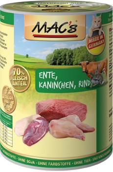 Macs Cat Ente & Kaninchen und Rind 12 x 400 g