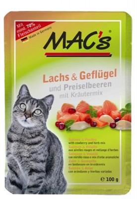 Macs Cat Lachs & Geflügel und Preiselbeeren 12 x 100 g