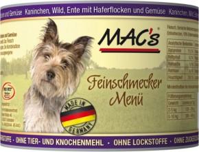 Macs Dog Kaninchen, Wild und Ente 200 g