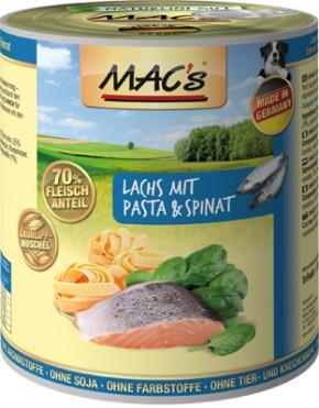Macs Dog Lachs mit Pasta & Spinat 400 g