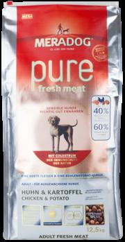 Mera Dog Pure Fresh Meat Huhn & Kartoffel 4 kg oder 12,5 kg (SPARTIPP: unsere Staffelpreise)