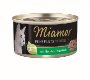 Miamor Feine Filets Naturelle mit Bonito und Thunfisch 80 g