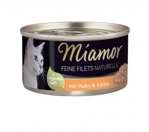 Miamor Feine Filets Naturelle mit Huhn und Kürbis 80 g