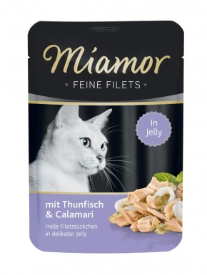 Miamor Feine Filets mit Thunfisch und Calamari in Jelly 24 x 100 g