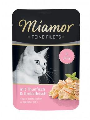 Miamor Feine Filets mit Thunfisch und Krebsfleisch in Jelly 24 x 100 g