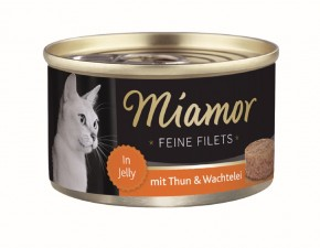 Miamor Feine Filets mit Thunfisch und Wachtelei in Jelly 100 g