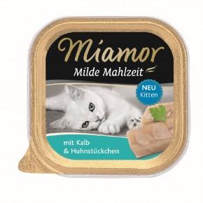 Miamor Milde Mahlzeit Kitten mit Kalb 16 x 100 g