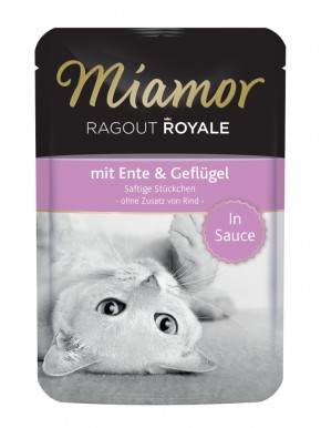 Miamor Ragout Royal mit Ente und Geflügel in Sauce 22 x 100 g