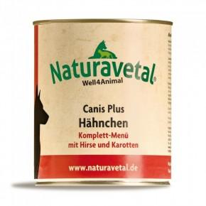 Naturavetal Canis Plus Hähnchen Komplett Menü 6 x 820 g