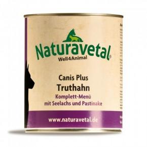 Naturavetal Canis Plus Truthahn Komplett Menü 6 x 820 g