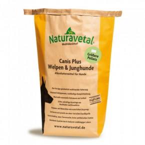 Naturavetal Canis Plus Welpen & Junghunde größere Pallets 5 kg oder 15 kg