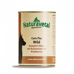 Naturavetal Canis Plus Wild Komplett Menü 410 g oder 820 g