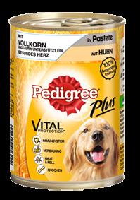 Pedigree Plus mit Vollkorn und Huhn in Pastete 12 x 400 g
