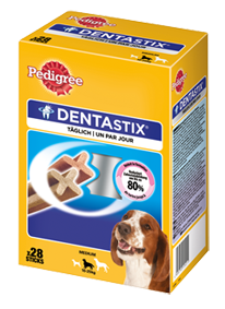 Pedigree Snack Dentastix Multipack für mittelgroße Hunde 4 x 28 Stück