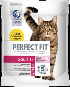Perfect Fit Cat Adult reich an Lachs 750 g oder 1,4 kg (SPARTIPP: unsere Staffelpreise)