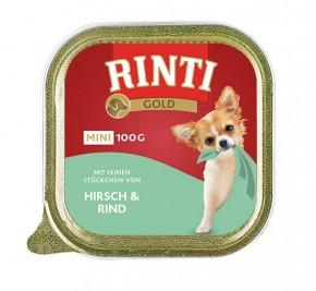 Rinti Gold Mini mit Hirsch und Rind 100 g