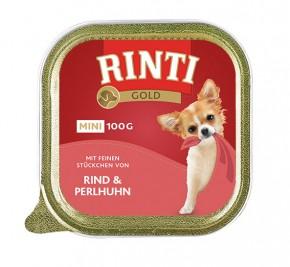 Rinti Gold Mini mit Rind und Perlhuhn 100 g