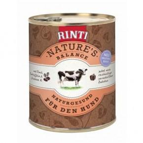 Rinti Natures Balance mit Rind, Kartoffeln und frischem Ei 800 g