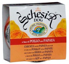 Schesir Dog Huhn mit Papaya 150 g