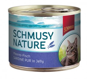 Schmusy Nature Meeresfisch Sardine pur in Jelly 12 x 185 g