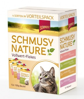 Schmusy Natures Vollwert Flakes Multipack 48 x 100 g