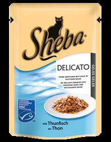 Sheba Delicato mit Thunfisch in saftigem Gelee 12 x 85 g