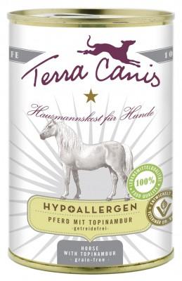Terra Canis hypoallergen Pferd mit Topinambur 12 x 400 g