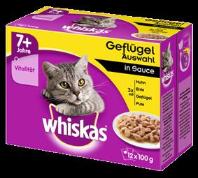 Whiskas 7+ Geflügelauswahl in Sauce 12-er Multipack 48 x 100 g