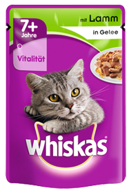Whiskas 7+ mit Lamm in Gelee 24 x 100 g