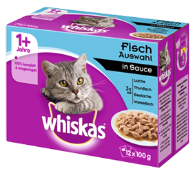 Whiskas Fischauswahl in Sauce 12-er Multipack 48 x 100 g