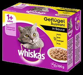 Whiskas Geflügelauswahl in Sauce 12-er Multipack 48 x 100 g