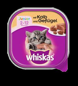 Whiskas Junior mit Kalb und Geflügel 32 x 100 g
