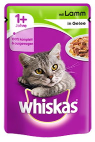 Whiskas mit Lamm in Gelee 24 x 100 g