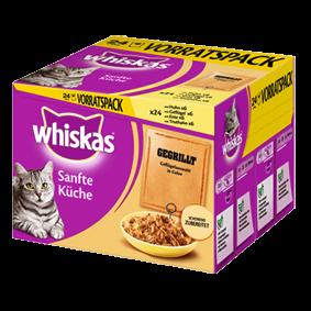 Whiskas Sanfte Küche gegrilltes Geflügel 24er Multipack 48 x 85 g