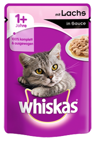 Whiskas mit Lachs in Sauce 24 x 100 g